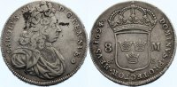 Schweden 8 Mark 1694 Belagreste, sehr sch&ouml;n Karl XI. 1660-1697. 925,00 EUR 
