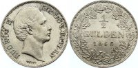 Bayern 1/2 Gulden 1866 vorz&uuml;glich - Stempelglanz Ludwig II. 1864-1886. 295,00 EUR 