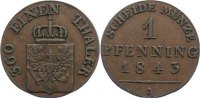 Brandenburg-Preu&szlig;en Cu Pfennig 1843 A sehr sch&ouml;n Friedrich Wilhelm IV. 1... 25,00 EUR inkl. gesetzl. MwSt., zzgl. 3,50 EUR Versand