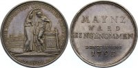 Mainz, Stadt Silbermedaille 1793 feine Pat...