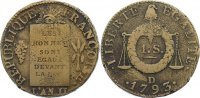 Frankreich Sol aux Balances 1793 D sch&ouml;n + Ludwig XVI. 1774-1793. 75,00 EUR 