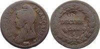 Cu Un Decime AN 4 A Frankreich Erste Republik 1793-1799. fast sehr schön  100,00 EUR  +  4,50 EUR shipping