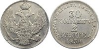Polen 2 Zloty (30 Kopeken) 1839 sehr sch&ouml;n Nikolaus I. von Ru&szlig;land 1825-... 135,00 EUR 