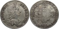 Gro&szlig;britannien Crown 1672 fast sehr sch&ouml;n Charles II. 1660-1685. 180,00 EUR 