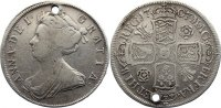 Gro&szlig;britannien Halfcrown 1707 gelocht, fast sehr sch&ouml;n Anne 1702-1714. 75,00 EUR 