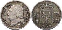 1/4 Franc 1817  BB Frankreich Ludwig XVIII. 1814, 1815-1824. selten, se... 375,00 EUR kostenloser Versand