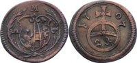 2 Pfennig 1707 Sachsen-Meiningen Ernst Ludwig 1706-1724. leicht gewellt... 80,00 EUR  +  4,50 EUR shipping