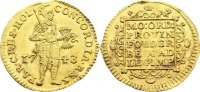Dukat 1743 Niederlande-Holland, Provinz  Gold, kl. Prägeschwäche, vorzü... 425,00 EUR free shipping