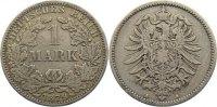 1 Mark 1879  A Kleinmünzen  fast sehr schön  95,00 EUR  zzgl. 3,50 EUR Versand