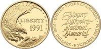 5 Dollar 1991  W USA  Gold, Polierte Platte  320,00 EUR  +  4,50 EUR shipping