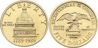 USA 5 Dollar 1989 Gold, Stempelglanz  320,00 EUR