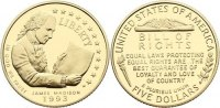USA 5 Dollar 1993 W Gold, Polierte Platte