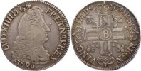 1/2 Ecu aux 8 L 1690  B Frankreich Ludwig XIV. 1643-1715. fast sehr sch... 145,00 EUR  +  4,50 EUR shipping