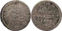 1/36 Taler (Halbbatzen) 1695 Sachsen-Meiningen Bernhard 1680-1706. selt... 245,00 EUR  zzgl. 3,50 EUR Versand