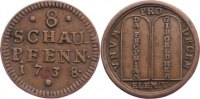 Kupfer 8 Schaupfennige 1738 Sachsen-Gotha-Altenburg Friedrich III. 1732... 95,00 EUR  +  4,50 EUR shipping