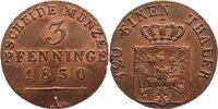 Cu 3 Pfennig 1830  A Brandenburg-Preußen Friedrich Wilhelm III. 1797-18... 75,00 EUR  +  4,50 EUR shipping