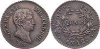 Quart AN 12 1803 Frankreich Napoleon I. 1804-1814, 1815. feine Patina, ... 150,00 EUR  +  4,50 EUR shipping