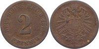 2 Pfennig 1873  F Kleinmünzen  schön  145,00 EUR  +  4,50 EUR shipping