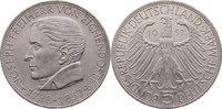 5 Deutsche Mark 1957  J Gedenkmünzen  winzige Randfehler, vorzüglich  195,00 EUR  +  4,50 EUR shipping