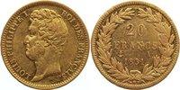 20 Francs 1831  A Frankreich Louis Philippe I. 1830-1848. Gold, sehr sc... 285,00 EUR  zzgl. 3,50 EUR Versand