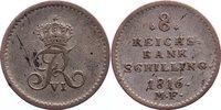8 Reichsbankschilling 1816  MF Schleswig-Holstein, Königliche Linie Fri... 150,00 EUR  +  4,50 EUR shipping