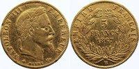 5 Francs 1867  BB Frankreich Napoleon III. 1852-1870. GOLD, kl. Randfeh... 110,00 EUR  +  4,50 EUR shipping