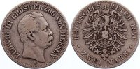 2 Mark 1876  H Hessen Ludwig III. 1848-1877. schön +  200,00 EUR  +  4,50 EUR shipping