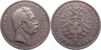 5 Mark 1876  H Hessen Ludwig III. 1848-1877. kl. Randfehler, fast sehr ... 95,00 EUR  +  4,50 EUR shipping