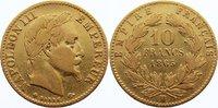 10 Francs 1865  BB Frankreich Napoleon III. 1852-1870. GOLD, knapp sehr... 160,00 EUR  zzgl. 3,50 EUR Versand
