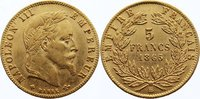 5 Francs 1865  BB Frankreich Napoleon III. 1852-1870. GOLD, kl. Kratzer... 190,00 EUR  +  4,50 EUR shipping