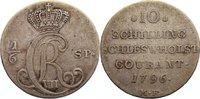 1/6 Speciestaler 1796  MF Schleswig-Holstein, Königliche Linie Christia... 135,00 EUR  +  4,50 EUR shipping