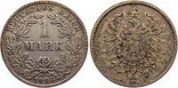 1 Mark 1886  J Kleinmünzen  fast sehr schön  15,00 EUR  zzgl. 1,00 EUR Versand