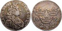 2 Mark 1692 Schweden Karl XI. 1660-1697. kl. Zainende, Kratzer, sehr sc... 145,00 EUR