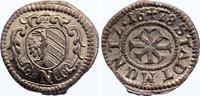 Nürnberg, Stadt Kreuzer 1678 Zainende, prägefrisch  30,00 EUR  zzgl. 3,50 EUR Versand