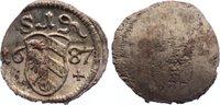 Nürnberg, Stadt Einseitiger Pfennig 1687 kl. Schrötlingslöcher, prägefri... 20,00 EUR  zzgl. 3,50 EUR Versand