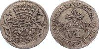 6 Pfennig 1736  AB Sachsen-Eisenach Wilhelm Heinrich 1729-1741. sehr sc... 35,00 EUR