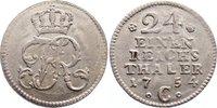 1/24 Taler 1754  C Brandenburg-Preußen Friedrich II. 1740-1786. leichte... 50,00 EUR