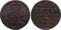 Sachsen-Weimar-Eisenach Cu Guter Pfennig 1757 leichter Belag, sehr schön... 25,00 EUR  zzgl. 3,50 EUR Versand
