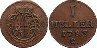 Sachsen-Albertinische Linie Cu Heller 1783  C sehr schön + Friedrich Aug... 20,00 EUR  zzgl. 3,50 EUR Versand