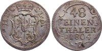 1/48 Taler 1804 Sachsen-Coburg-Saalfeld Franz Friedrich Anton 1800-1806... 65,00 EUR  zzgl. 3,50 EUR Versand