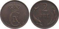 Cu 2 Öre 1 1886  CS Dänemark Christian IX. 1863-1906. sehr schön  20,00 EUR  zzgl. 3,50 EUR Versand