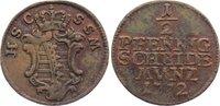 Cu 1/2 Pfennig 1772 Sachsen-Coburg-Saalfeld Ernst Friedrich 1764-1800. ... 30,00 EUR  zzgl. 3,50 EUR Versand