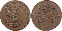 Cu 1 1/2 Pfennig 1799 Sachsen-Coburg-Saalfeld Ernst Friedrich 1764-1800... 30,00 EUR  zzgl. 3,50 EUR Versand