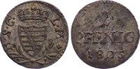 Pfennig 1805 Sachsen-Coburg-Saalfeld Franz Friedrich Anton 1800-1806. s... 50,00 EUR  zzgl. 3,50 EUR Versand