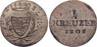 Kreuzer 1805  L Sachsen-Coburg-Saalfeld Franz Friedrich Anton 1800-1806... 60,00 EUR  zzgl. 3,50 EUR Versand