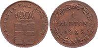 Cu Lepton 1843 Griechenland Otto I. 1832-1862. kl. Schrötlingsfehler, l... 225,00 EUR  zzgl. 3,50 EUR Versand