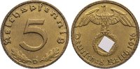 5 Reichspfennig 1936  D Drittes Reich Kursmünzen 1933-1945. kl. Kratzer... 90,00 EUR  zzgl. 3,50 EUR Versand
