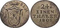 1/24 Taler 1805  L Sachsen-Coburg-Saalfeld Franz Friedrich Anton 1800-1... 75,00 EUR  zzgl. 3,50 EUR Versand
