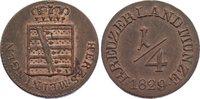 Cu 1/4 Kreuzer 1829 Sachsen-Meiningen Bernhard Erich Freund 1803-1866. ... 30,00 EUR  zzgl. 3,50 EUR Versand