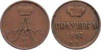 Cu Poluschka 1857  EM Russland Alexander II. 1855-1881. knapp sehr schön  25,00 EUR  zzgl. 3,50 EUR Versand